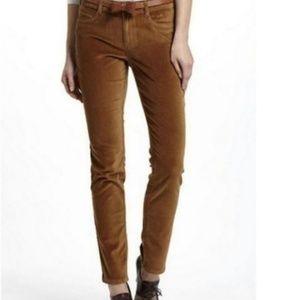 Anthropologie Pilcro Brown Velvet Serif Pants 27